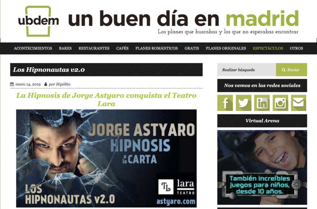 Astyaro un Buen dia en Madrid